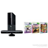 Microsoft Xbox 360 500 GB Konsol + Kinect Sensör + Forza Horizon + Kinect Sports + Kinect Adventures