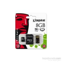 Kingston 8GB Mobility Kit MicroSD Class10 Sd + Usb Adaptör Hafıza Kartı MBLY10G2/8GB