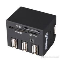 Volk 56 in 1 Combo Card Reader + 3 Port Usb Hub (ML-CE19B)