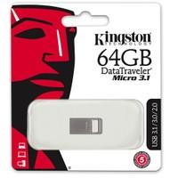 Kingston 64GB DTMICRO 3.1/3.0 Metal USB Bellek DTMC3/64GB