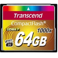 Transcend 64GB 1000x Compact Flash Kart (Type I)