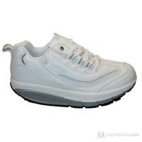 Gold Slim Step Yeni Tasarım Yürüyüş Ayakkabısı (Beyaz)