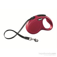 Flexi New Classic 5M Şerit M-L Kırmızı Otomatik Tasma