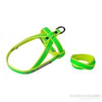 Neon Yeşil-Sarı L Göğüs Tasma/Bileklik