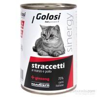 Golosi Slices in Sauce / Stracetti Cat Tavşan ve Sığır Etli Kedi Konservesi 400 Gr