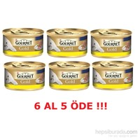 Purina Gourmet Gold Kıyılmış Tavuklu 85 gr 6 al 5 Öde!