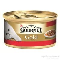 Purina Gourmet Gold Parça Etli ve soslu Sığır Etli Konserve Yaş Kedi Maması 85 Gr (1 adet )