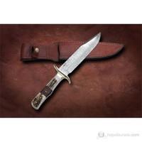 Bora M 612 Damascus Çelik Boynuz Saplı Bıçak