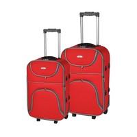 My Valice Stil 2'Li Kumaş Valiz Seti (Kabin Ve Orta) Kırmızı
