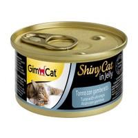 Gimcat Yeni Shinycat Öğünlük Konserve Kedi Maması-Ton Balıklı Karidesli 70gr