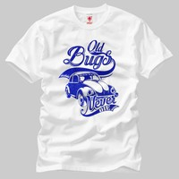 Crazy Old Bug Never Die Retro Erkek T-Shirt