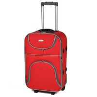 My Valice Stil Kumaş Bavul Valiz Kabin Boy Kırmızı