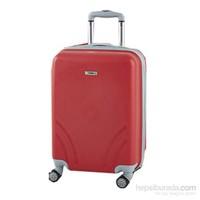 TUTQN Kırılmaz Plastik Bavul Orta Boy Valiz %100 PP Kırmızı