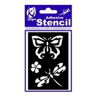 Ki-Sign 7X10 Cm Ölçülerinde Kelebek Ve Yusufçuk Yapışkanlı Stencil Şablon - Bs-006