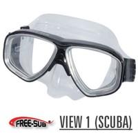 Free-Sub View 1 Scuba Ve Serbest Dalış Maskesi Mavi