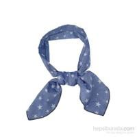 Cool Tie - Desenli Denim Mavi Yıldızlı