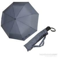 Zeus&Co. Gri Lacivert Çizgili Otomatik Rüzgarda Kırılmayan Şemsiye