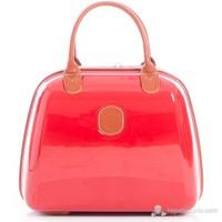 Esta Rubon - Punica Parlak Kırmızı Makyaj Çantası & El Valizi