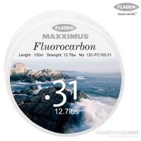 Fladen Maxxımus Fluocarbon 100Mt. - 0,38Mm.