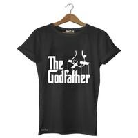 Dyetee The Godfather - Yazı Erkek T-Shirt