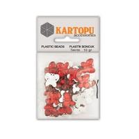 Kartopu Kırmızı Kelebek Süslü Taş - Et15