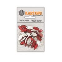 Kartopu Kırmızı Damla Süslü Taş - Et9
