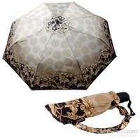 Zeus&Co. Altın Çiçek Rüzgara Dayanıklı Otomatik Şemsiye