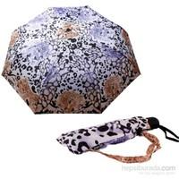 Zeus&Co. Leoparlı Rüzgara Dayanıklı Otomatik Şemsiye