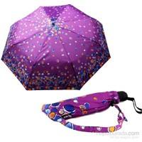 Zeus&Co. Morda Renkli Noktalar Rüzgara Dayanıklı Otomatik Şemsiye