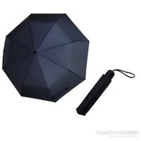 Zeus&Co. Lacivert Manuel Rüzgara Dayanıklı Şemsiye