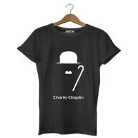Dyetee Çarli Ve Bastonu Erkek T-Shirt
