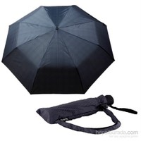 Zeus Mavi Ekose Rüzgara Dayanıklı Tam Otomatik Şemsiye