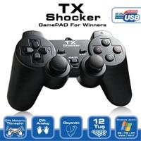 TX Shocker Çift Analog, Çift Titreşim Motorlu, 12 Tuşlu Analog/Dijital USB PC Gamepad