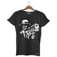 Dyetee Anonymous Magnum Erkek T-Shirt