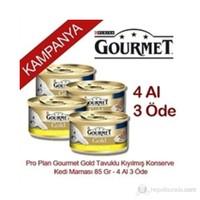 Pro Plan Gourmet Gold Tavuklu Kıyılmış Konserve Kedi Maması 85 Gr - 4 Al 3 Öde