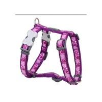 Reddıngo Breezy Love Desenli Mor Köpek Göğüs Tasması 20 Mm