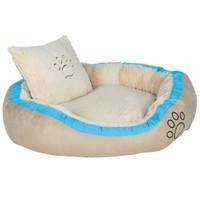 Trixie köpek yatağı, 80x65cm, bej/turkuaz