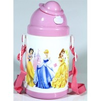 Vardem Disney Prensesler Pipetli Kapaklı Matara (350 Ml)