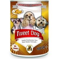 Tweet Dog Tavuk Etli Konserve Köpek Maması 400 Gr