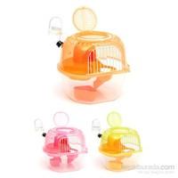 Flip Elma Şekil Hamster Kafesi Pembe