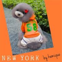 Kemique Turuncu Köpek Eşofman Takım-New York By Kemique