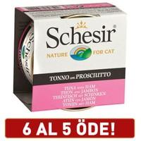 Schesir Ton Balıklı Ve Jambonlu Jelly Yetişkin Kedi Konservesi 6 X 85 gr