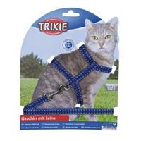 Trixie Mavi Kedi Göğüs Tasma Seti Fosforlu 22-42cm/10mm