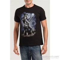Köstebek Skull Guitar Erkek T-Shirt