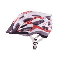 Plus Mv88 Işıklı Beyaz Kırmızı Bisiklet Kaskı