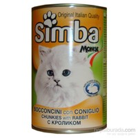 415 Gr x 24'lü Simba Tavşanlı Kedi Konservesi
