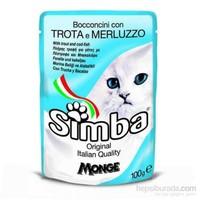 24'lü Simba Alabalıklı ve Deniz Ürünleri Pouch Kedi Konservesi 100 Gr