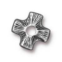 Tierra Cast Rivetable 1 Adet 11.0 Mm Gümüş Rengi Çarpı Takı Ara Aksesuarı - 94-5799-40