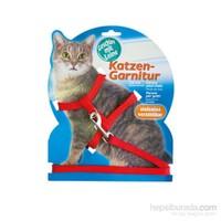 Katzen Kedi Göğüs Tasması Kırmızı