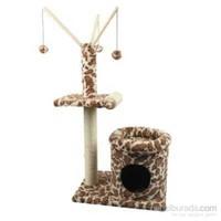 Ranna Leopar Desenli Kedi Evi ve Kedi Tırmalama Tahtası - 102,5 cm